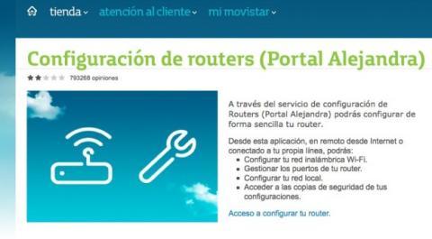 Accede al servicio de configuración de routers Movistar
