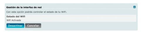 Activa o desactiva tu wifi en tu router Movistar