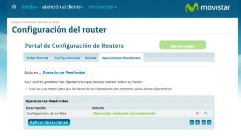 Aplica los cambios en la configuración de tu router Movistar