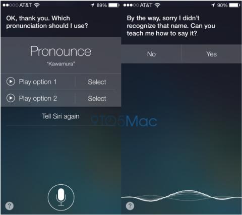 Siri aprende a pronunciar nombres