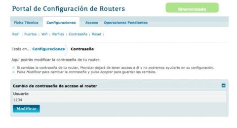 Modifica la contraseña de tu router Movistar