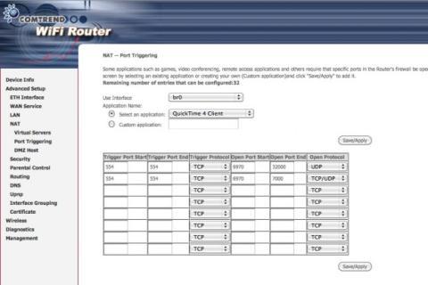 Abre un rango de puertos de una aplicación preconfigurada en tu router Movistar
