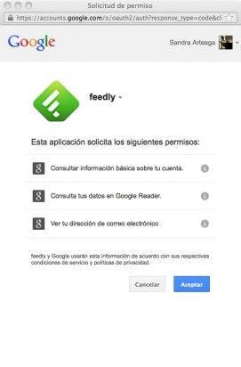 Accede a Feedly con tu cuenta de Google
