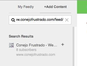 Añade más feeds a tu perfil de Feedly