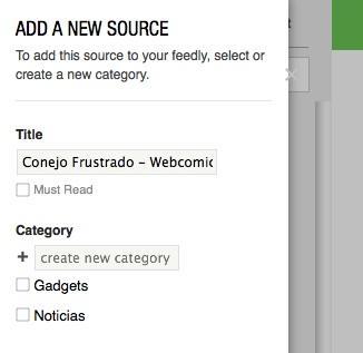 Categoriza los feeds en Feedly