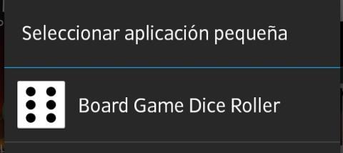 Escoge la nueva Small App desde el menú de adición