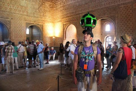 Google Street View en la Alhambra de Granada