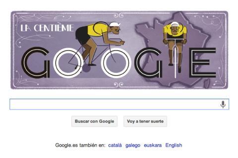 Google celebra el Tour de Francia con el doodle de hoy