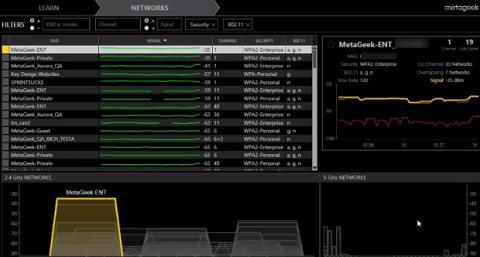 Analiza el espectro de redes inalámbricas