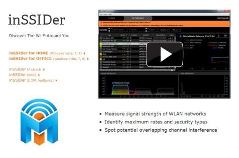 Localiza el mejor canal de transmisión inalámbrica con inSSIDer