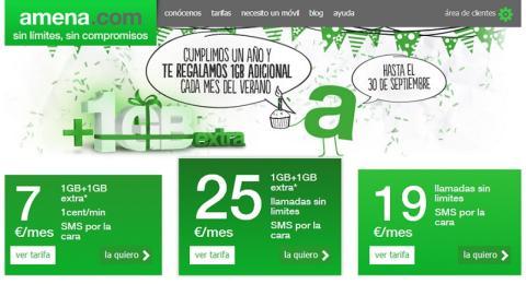 Amena regala 3 GB de conexión a sus usuarios este verano