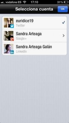 Publica actualizaciones en los perfiles vinculados en Flipboard