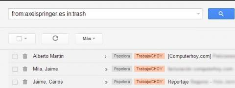 Las búsquedas en Gmail son más potentes de lo que piensas