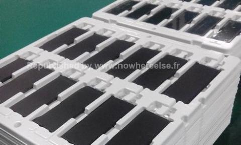 Baterías del iPhone 5S en cadena de montaje