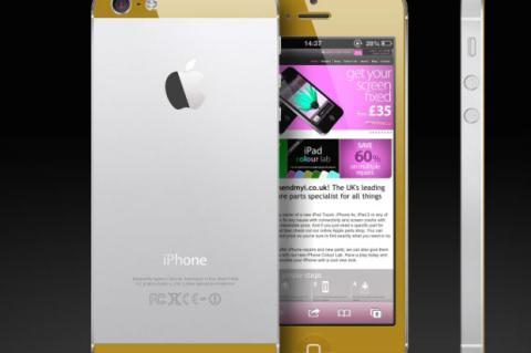 iPhone 5S en color dorado con 4G LTE Advanced