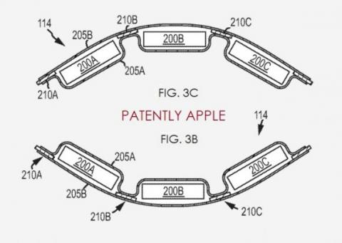 Patente de Apple de batería flexible