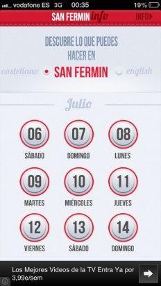 Consulta el programa de San Fermín