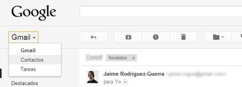 Cambia al modo Contactos de Gmail