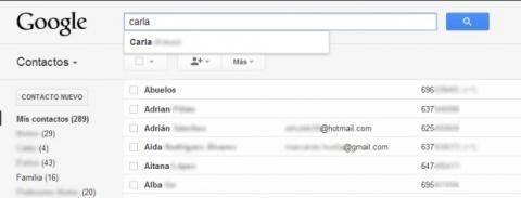 Descubre la vista de Contactos de Gmail