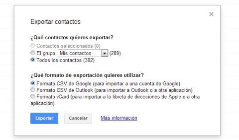 Exporta toda tu agenda de Android a un CSV