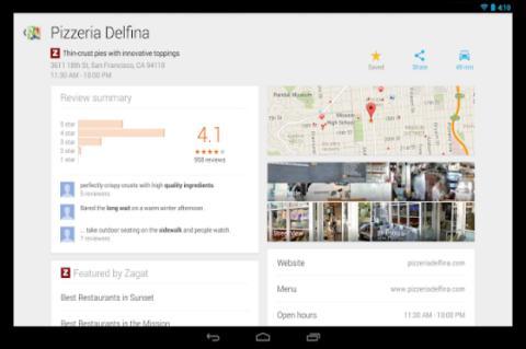 Una muestra de Google Maps para Android