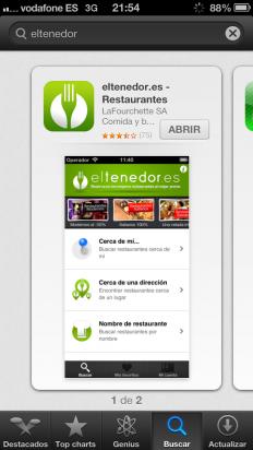 Descarga la app de eltenedor.es en tu iPhone