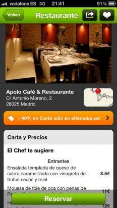 Consulta información del restaurante en eltenedor.es