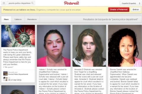 La policia de Arizona usa Pinterest