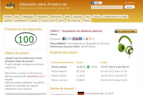 Adquisitio, las gangas de Amazon, FNAC y Carrefour