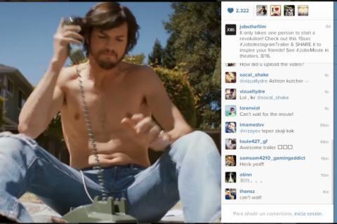 Trailer de Jobs, la película sobre Steve Jobs, en Instagram