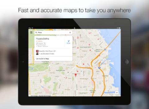 Google Maps app para iPads