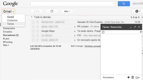 Activa las tareas en Gmail