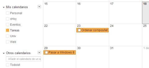 Activa las tareas en Google Calendar
