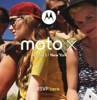 Invitación al evento de lanzamiento del Moto X