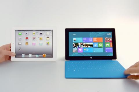 Surface RT vs. iPad. Publicidad de Microsoft contra Apple