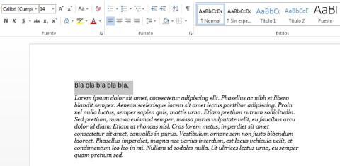 Escribe el autotexto en Word 2013