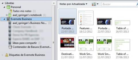 Conoce las diferencias entre las libretas corporativas y las personales en Evernote Business