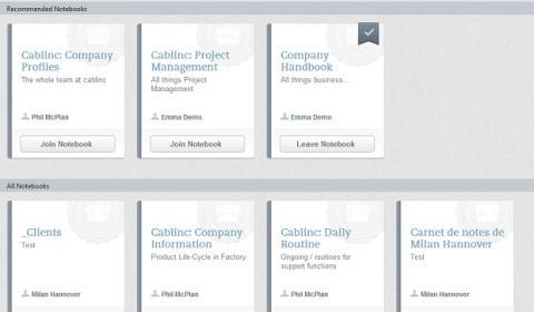 La Biblioteca de Negocios es otra de las novedades de Evernote Business