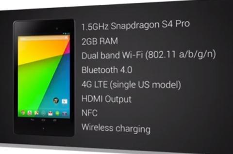 Nexus 7 especificaciones