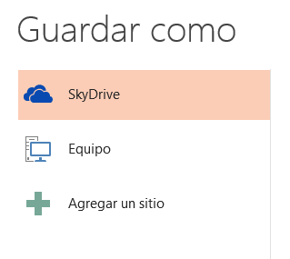 Guardar en SkyDrive