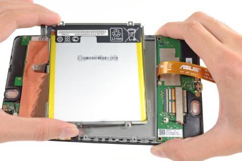 Batería nueva Nexus 7. ifixit.