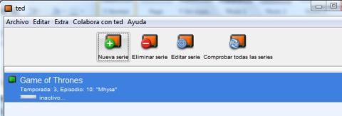 TED es un programa para configurar las descargas automáticas por RSS
