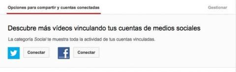 Conecta tus perfiles sociales en YouTube