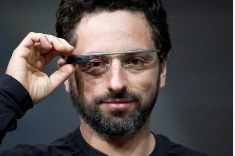 Sergey Brin, con Google Glass