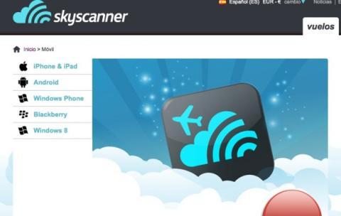 Descarga la app de Skyscanner