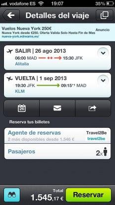 Reserva tu vuelo en la app de Skyscanner