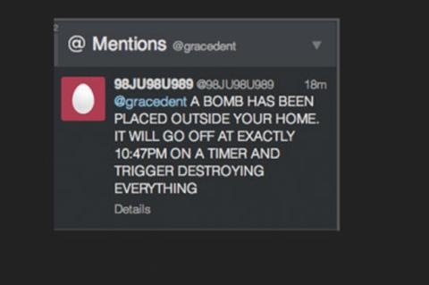 Amenaza en Twitter