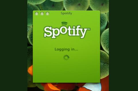 Pantalla de inicio de Spotify