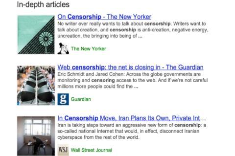 Captura de pantalla Google InDepth