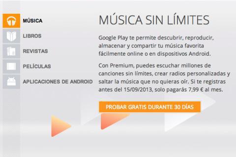 Google Music Premium en Google Play